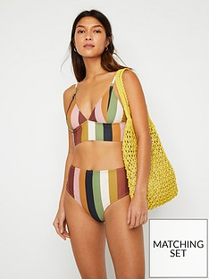 warehouse-stripe-banded-bikini-top