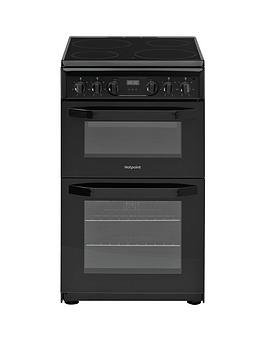hotpoint-hd5v93ccb-50cmnbspwide-electric-double-oven-cooker-black