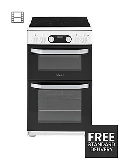 hotpoint-hd5v93ccw-50cmnbspwide-electric-double-oven-cooker-white