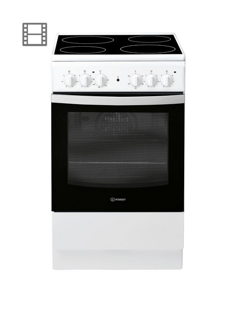 indesit-is5v4khw-50cm-widenbspelectric-single-oven-cooker-white