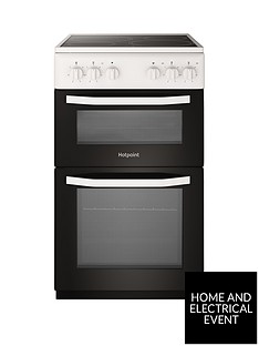 hotpoint-hd5v92kcw-50cmnbspwide-electric-twin-cavity-single-oven-cooker-white