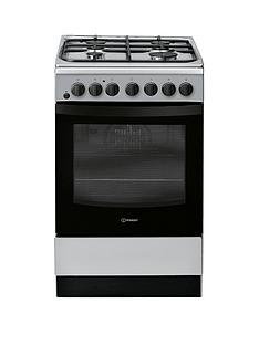 Indesit IS5G4PHSS 50cm Dual Fuel Single Oven Cooker - Stainless Steel