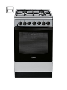 indesit-is5g4phss-50cm-dual-fuel-single-oven-cooker-stainless-steel