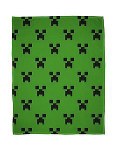 minecraft-emerald-fleece-throw