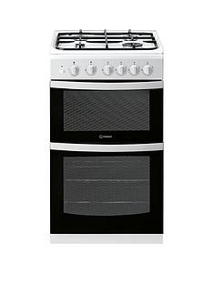 indesit-id5g00kmw-50cm-gas-twin-cavity-single-oven-cooker-white
