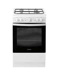 Indesit IS5G1KMW 50cm Wide Gas Single Oven Cooker - White