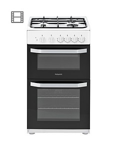 hotpoint-hd5g00kcw-50cm-wide-gas-cooker-with-grill-white