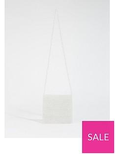 warehouse-beaded-cross-body-bag-clear