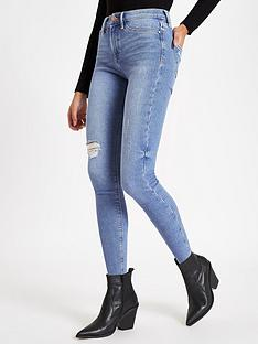 river-island-river-island-molly-distressed-knee-skinny-jeans-light-blue