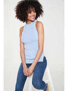 37965a0afb River Island Knitted Vest - Light Blue