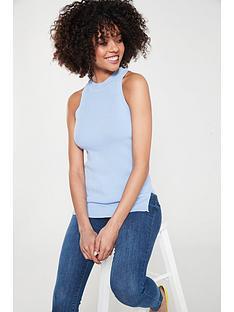 460239c1e8b River Island Knitted Vest - Light Blue