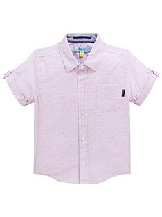 8dd0e7c598f98 Baker by Ted Baker Boys Geo Dot Short Sleeve Shirt - Light Pink