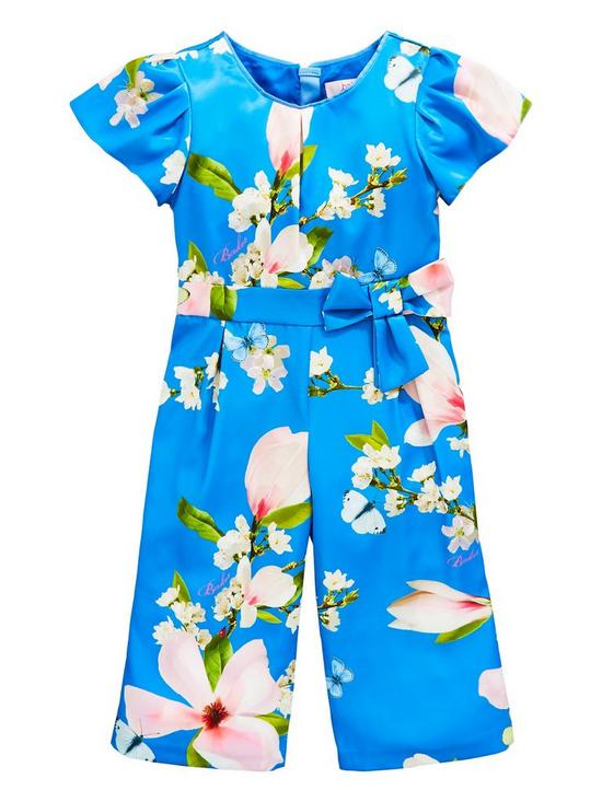 e239f28db Baker by Ted Baker Girls Floral Satin Jumpsuit - Blue