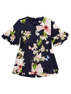03d92079c0d5d2 Baker by Ted Baker Girls Harmony Floral Playsuit - Navy