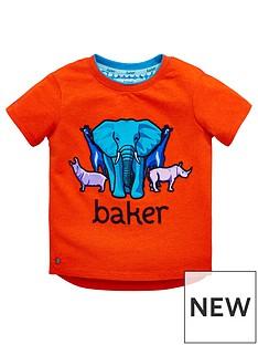 55de2a13ec3f44 Baker by Ted Baker Toddler Boys Safari Placement T-Shirt - Red