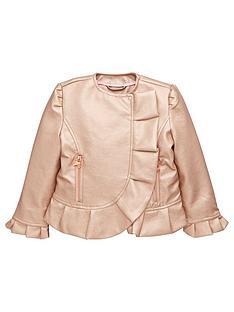 3b65cf8508156 Baker by Ted Baker Girls Shimmer PU Jacket - Metallic