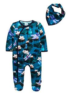 3e527e9042a Baker by Ted Baker Baby Boys Lilly Pads Sleepsuit - Green