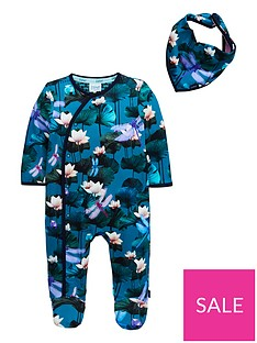 baker-by-ted-baker-baby-boys-lilly-pads-sleepsuitnbsp--green