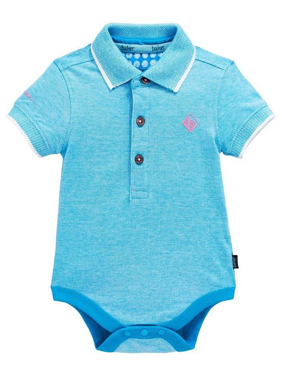 4f4f313e6 Baker by Ted Baker Baby Boy Geo Short Sleeve Polo Bodysuit - Aqua ...