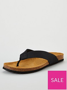 office-darwin-thong-sandals-black