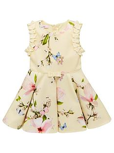 1faf0e916bef Baker by Ted Baker Toddler Girls Harmony Floral Scuba Dress - Yellow