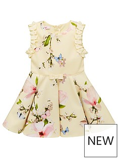 57b112535 Baker by Ted Baker Toddler Girls Harmony Floral Scuba Dress - Yellow
