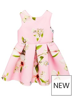b1143f914b69aa Baker by Ted Baker Girls Harmony Scuba Dress - Light Pink