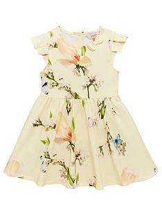f5db502210a8 Baker by Ted Baker Toddler Girls Harmony Printed Jersey Dress - Yellow