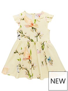 2e4077587699c Baker by Ted Baker Toddler Girls Harmony Printed Jersey Dress - Yellow