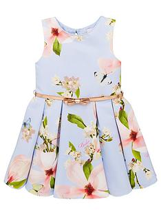 a45abf7e7 Baker by Ted Baker Girls Harmony Printed Ottoman Dress - Light Blue