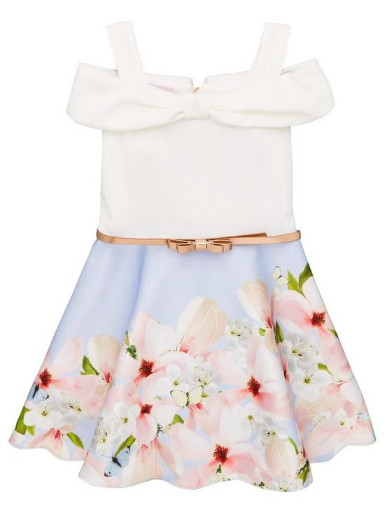 Girls' Clothing (2-16 Years) Ted Baker Girls Blue Dress Worn Once Age 12-13 Kids' Clothes, Shoes & Accs.