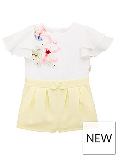 12575e88ce17 Baker by Ted Baker Toddler Girls Placement Playsuit - Yellow
