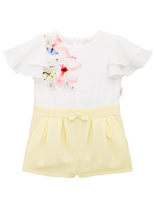2890e2462c5 Baker by Ted Baker Toddler Girls Placement Playsuit - Yellow | very ...