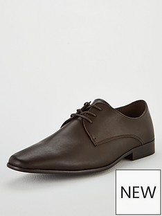 office-glide-plain-toe-lace-up-shoe-chocolate