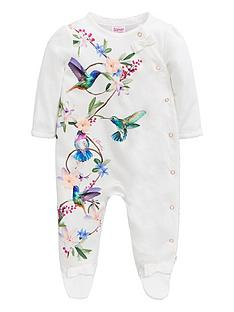 86c9544b7c1 Baker by Ted Baker Baby Girls Printed Sleepsuit - Off White