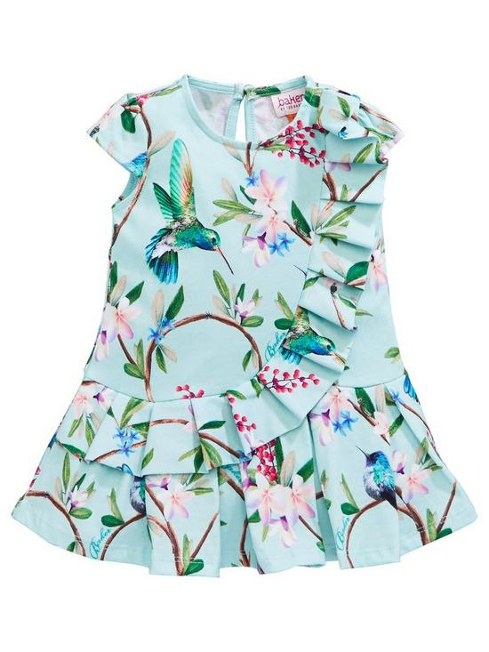 8e85b9c2c9a5 Baker by Ted Baker Baby Girls Frill Detail Floral Jersey Dress | very.co.uk