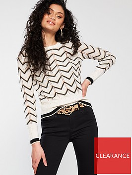 river-island-river-island-chevron-stripe-jumper-white