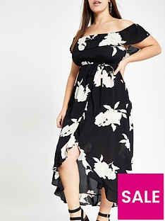 ri-plus-floral-print-bardot-maxi-dress