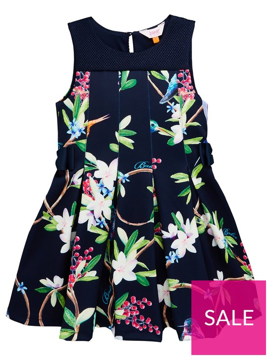 f5ddf16fcb9a Baker by Ted Baker Girls Scuba Prom Dress - Navy | very.co.uk