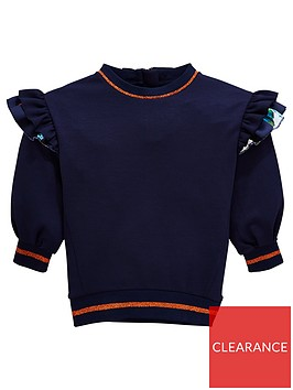 baker-by-ted-baker-girls-frill-sleeve-sweat-top-navy
