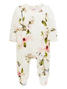b6ad260f86b8 Baker by Ted Baker Baby Girls Harmony Placement Sleepsuit - Yellow