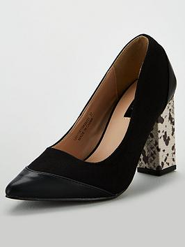 lost-ink-connie-snake-print-heeled-court-shoes-multi