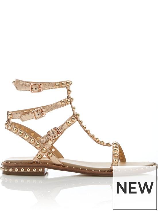 d8309a50646 ASH Play Stud Gladiator Sandals - Rose Gold