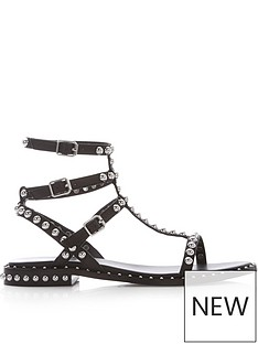 ash-play-stud-gladiator-sandals-black