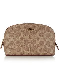 coach-canvas-signature-cosmetic-case-tan