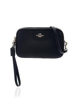 coach-leather-logo-cross-body-clutch-black