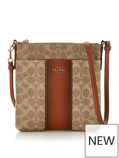 coach-colour-block-canvas-signature-messenger-cross-body-bag-tan