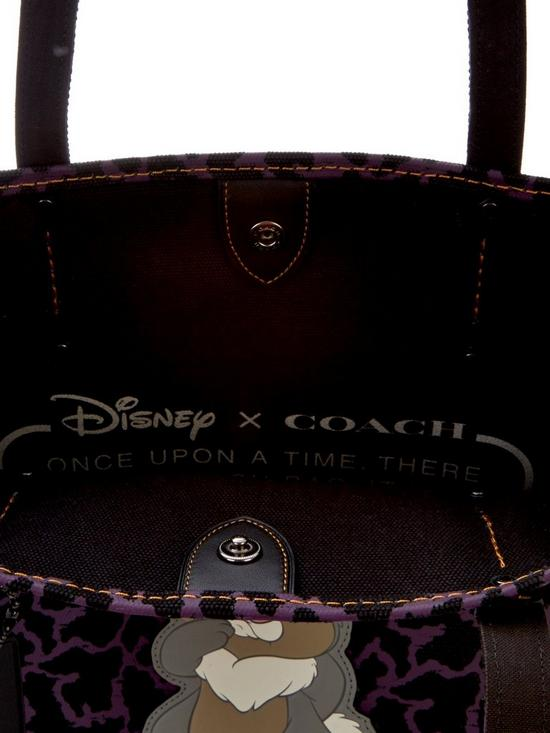 Disney x Coach Thumper Tote Bag - Purple/Black