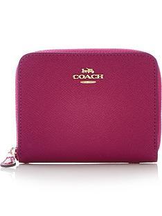 coach-small-logo-zip-around-purse--nbspdark-pink