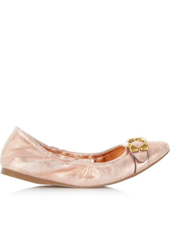 307dc6e4207631 COACH Signature Buckle Stanton Ballet Shoes - Rose | very.co.uk